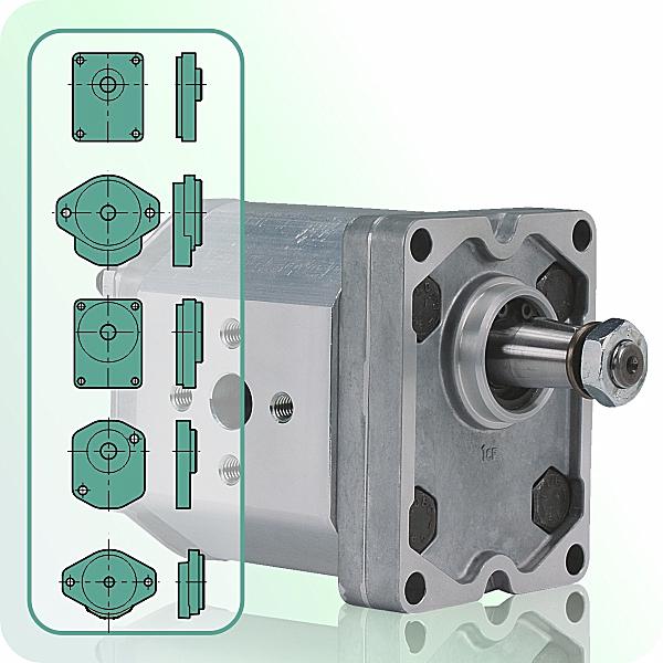 Hydraulic Gear Motors create mechanical power from hydraulic flow