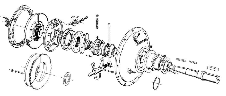 clutches and speed increasing decreasing gearboxes rh jbj co uk engine clutch transmission diagram CJ5 Clutch Diagram
