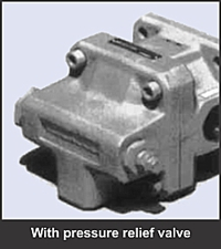 GPA series low noise internal gear pump with pressure relief valve