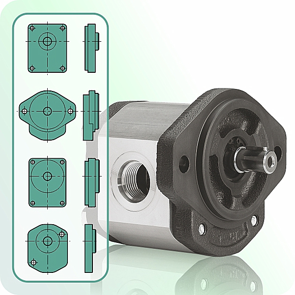 Hydraulic Gear Motors create mechanical power from hydraulic flow