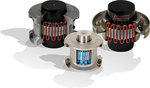 Torsionally flexible and resilient grid type couplings