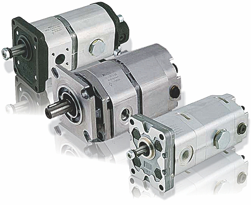 2 stage high / low multiple gear pumps