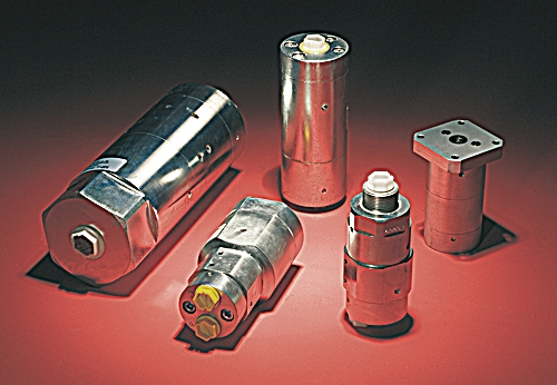Hydraulic pressure intensifiers; achieve high pressure from low pressure hydraulic power sources.