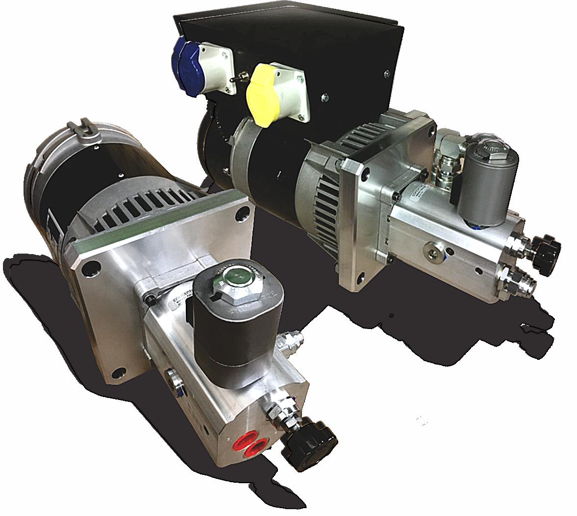 Hydraulically operated generator