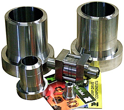 QM repplaceable seal flanges; pipe sizes between 20 and 220 mm od
