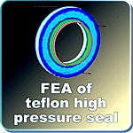 FEA image for high pressure gear pump shaft seal