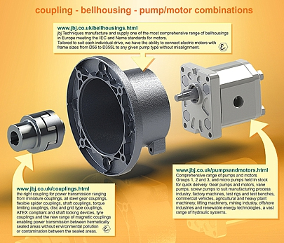 Coupling, bellhousing, pump packages.