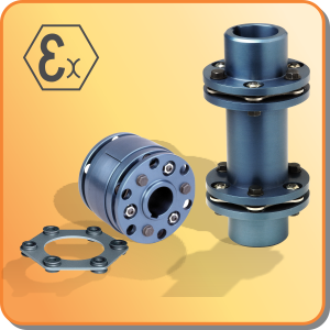 couplings: mechanical power transmission disc coupling with ATEX certification on request