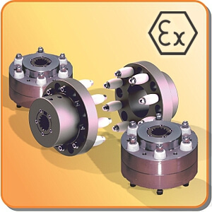 couplings: mechanical power transmission jxl anti-static, flameproof coupling with ATEX certification on request