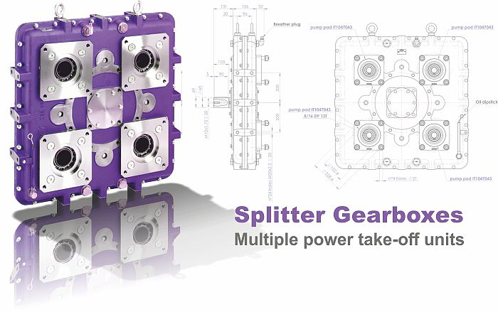Splitter Gearboxes / Multiple Power Take-off Units  PTOs