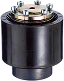 Torque limiting coupling with universal joints and rigid connection of two axle shafts.