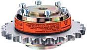 torque limiting coupling with sproket